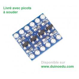 Convertisseur de niveaux bidirectionnel 5V/3.3V 4 canaux