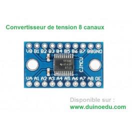 Convertisseur de niveaux bidirectionnel 5V/3.3V 3.3V/5V 8 canaux