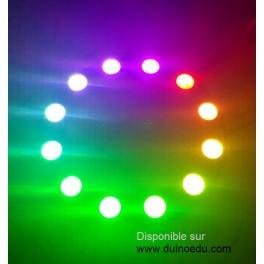 GM - Anneau de 12 LED 5cm RGB pilotables individuellement