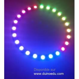 GM - Anneau de 24 LED 8.5cm RGB pilotables individuellement