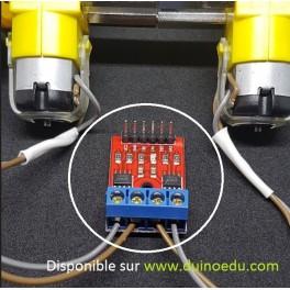 PM MOT - Double drivers Dupont pour 2 petits moteurs courant continu
