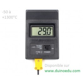 TU1 - Thermomètre à sonde -50 à 1300°C