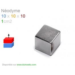 S1 - Aimant Néodyme puissant 10x10x10 - 1cm3