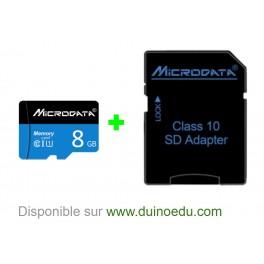WM SD - Carte micro-SD 8Gb + adaptateur compatible Arduino