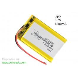 Battrrie Lipo 1200mA 3.7V