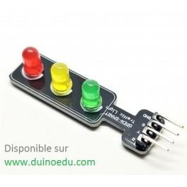 3 LED pilotables par 3 sorties Arduino