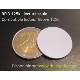 GM RFID - TAG RFID 125k format pièce 25mm