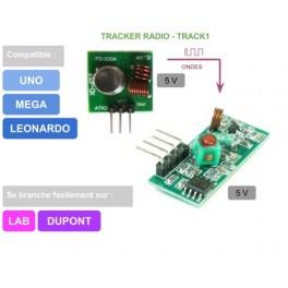 Trackers radio (1 émetteur + 1 récepteur)