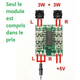 Amplificateur audio pilotable par Arduino