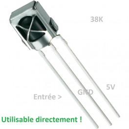 Récepteur Infrarouge pour télécommande 38K Light