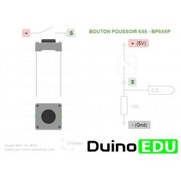 Bouton poussoir mini 6x6mm