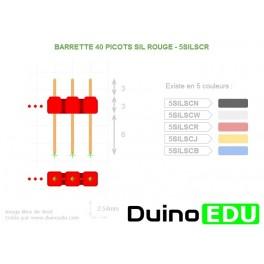 Barettes 40 picots SIL rouge