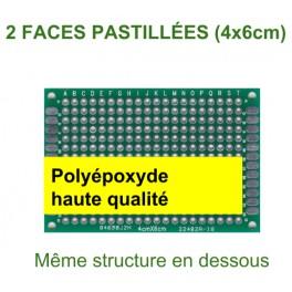 Plaque pastillée 4 x 6cm double face haute qualité