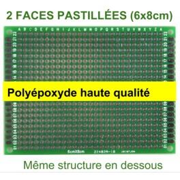 Plaque pastillée 5 x 7cm double face haute qualité