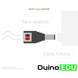 BE ALIM - Adaptateur Arduino pour fil  (Jack 2.1)