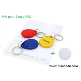 GM RFID - Lot de 6 tags RFID 125K