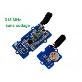 Tracker radio Grove (1 émetteur + 1 récepteur) Grove